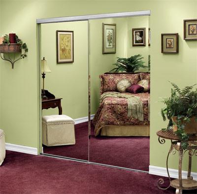 Frameless Mirrored Closet Doors closet doors, mirrored doors, bypass, frameless,